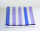 Blue and purple lines square plate